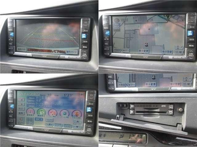 ☆ナビもHDDナビ付です☆音楽もたくさん録音できます☆バックカメラも付いておりますので、車庫入れも楽々です☆ビルトインETC付ですので、高速道路も楽々通過することができます☆