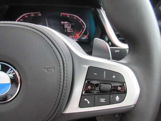 ステアリングコントローラー右側はメーターの操作になります。