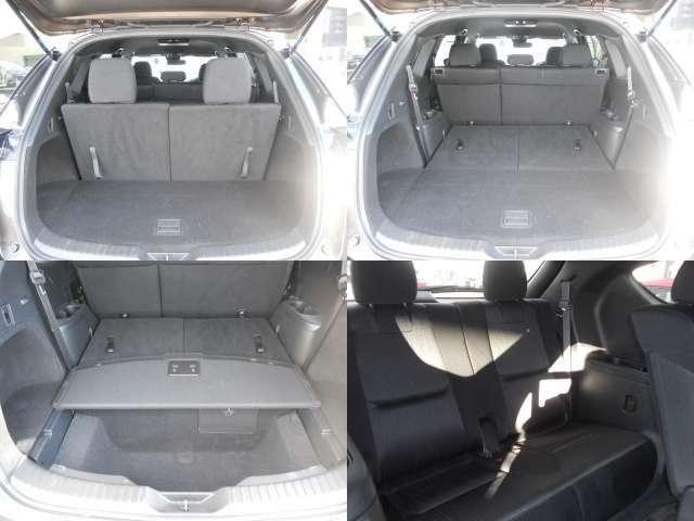 ☆広さと使い勝手が気になるラゲッジスペース!後部座席のシートを倒せば、長さのある荷物も積むことができます!利用シーンに応じてアレンジしてみてください☆