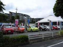 ハイブリッドカー・ワゴン車・軽自動車を多数展示しております。