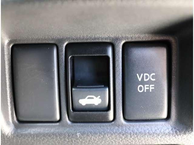 VDC!滑りやすい路面やコーナリング、障害物を回避する際に発生する横滑りを軽減し、車両の安定性を向上させ、走行時の安心感を高めます!
