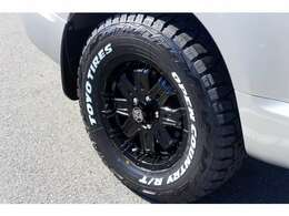 新品16インチアルミホイール新品オープンカントリーホワイトレタータイヤ