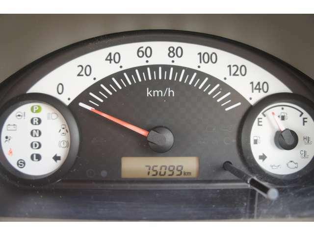 走行は75000KMですが、タイミングチェーン式のエンジンなので10万kmベルト交換の必要はありません。