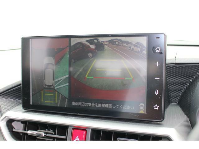 パノラマモニター☆車両の前後左右に搭載した4つのカメラにより、車を真上から見ているような映像を表示します!運転席から確認しにくい車両周囲の状況を把握できます♪