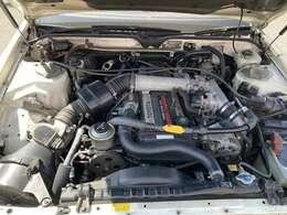 """★エンジン画像です。ユーポス高石店では全車""""納車前法定12ヶ月点検(以上)を実施""""致しますので、車両品質もご安心ください。"""