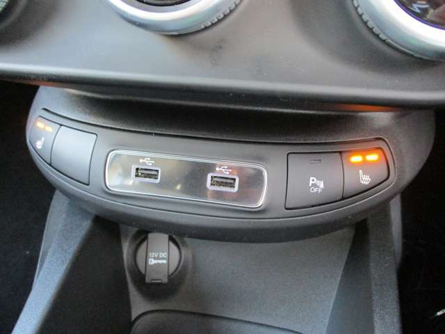 USB端子を2つ用意。