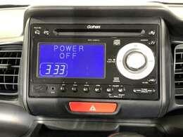 ダッシュボードに自然に溶け込むようにデザインされた純正FM/AM/CD/USBチューナー(WX-128CU)を装備。