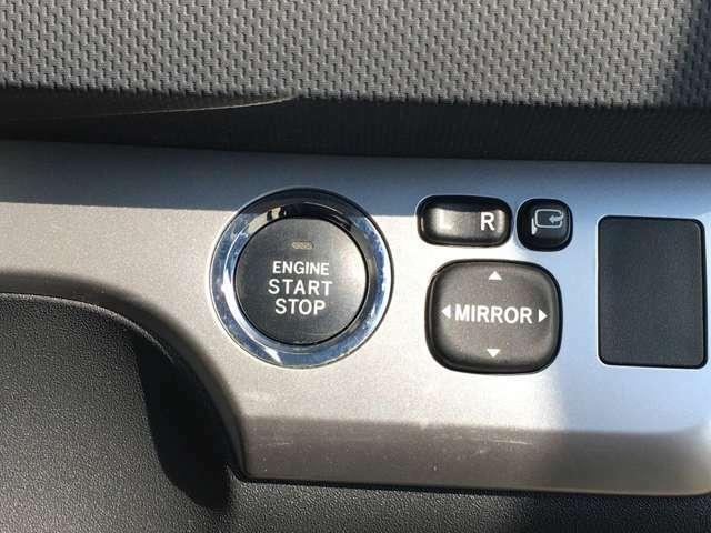 ボタンでエンジンをかけれる、プッシュスタート装備!カバンからカギを取り出す手間がいりません!
