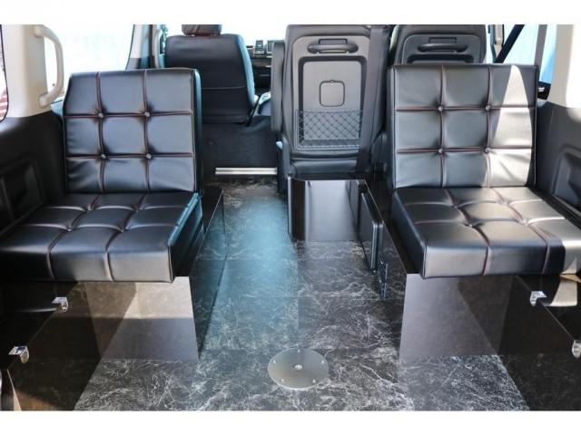3列目後向き座席家具(リクライニング加工・ボタン締め縫製)