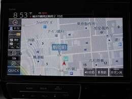大画面のホンダインターナビ。現在に交通状況に応じて最適な道を選びます。