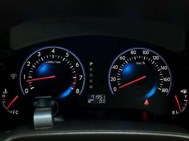 【メーター】現在の走行距離は71,951kmでございます。