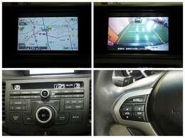 【ナビゲーション】 ナビを装備しております~!インパネ内にスッキリとビルトイン装着されておりますので、運転時に視界の妨げになる事もありませんよ♪ワンセグ、CD録音できるサウンドコンテナも利用可能です。