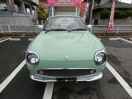 フィガロお洒落なオープン今は大人気の車で、日本でも人気がどんどん上がってます1オーナーターボレザーシートエアコンパワステETCCD外品サス試乗もできます整備して車検受けます