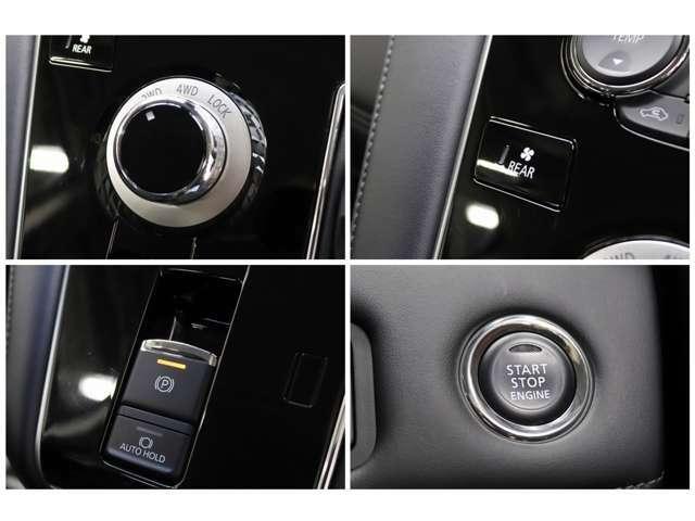 2WDと4WDの切り替えもお手元のスイッチで簡単に行う事が可能となっております。