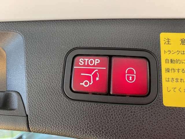 自動でハッチが開閉できるパワーバックドア付き!大きなハッチもボタン一つで開け閉め簡単!かなり重宝する装備です!