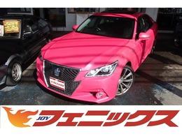 トヨタ クラウンアスリート ハイブリッド 2.5 G リボーン ピンク MOPフルセグナビ サンルーフ 黒革S