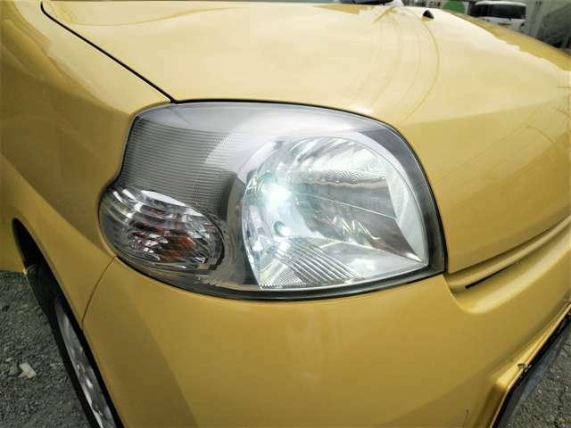 夜間も安全な明るいLEDヘッドライトに変更されています! スモールランプもLED♪