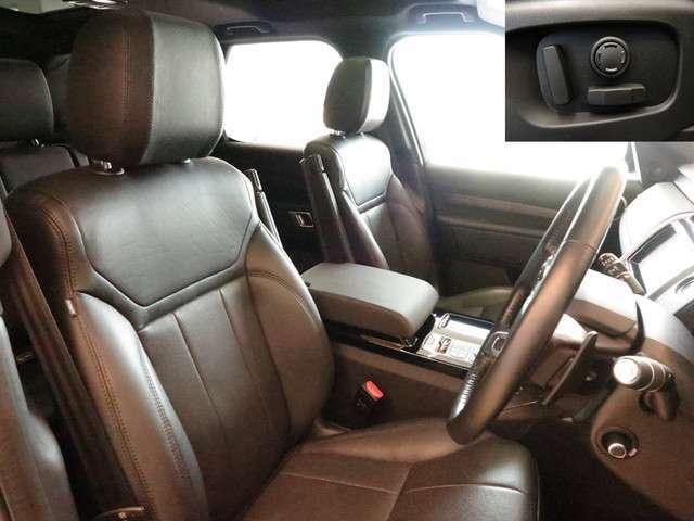 電動フロントシート「ドライバーのお好みのポジションに簡単操作で変更できます。また、体を包み込むように作られているため体が疲れにくくなっています。」