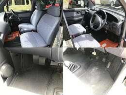 運転席・助手席と、各足下です。目立った汚れもありません
