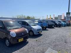 掲載中のお車は常時展示中!駐車場も広々です♪
