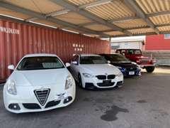 ヨーロッパ車、アメ車、こだわりの国産車を厳選して揃えています
