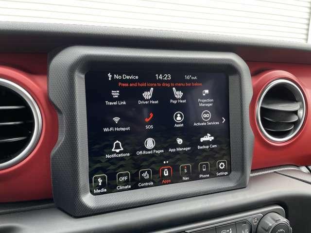 この車両は8.4インチスクリーンになります。モニターでシートヒーターや車両設定もこちらからできます。