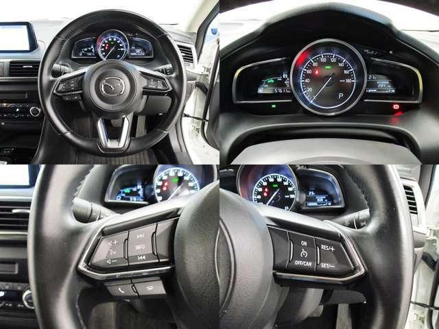 高速道路の走行時に便利なクルーズコントローラーが装備されているので、アクセルを離していても設定した速度を保って走行可能です!!長距離ドライブもらくらくですよ♪