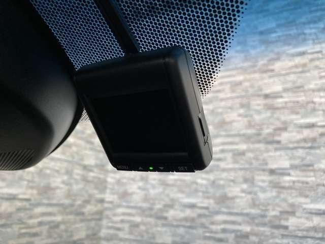 通常オプションでお付けいただくドライブレコーダーが既に装備されており、大変お得となっております。もしもの際にお役立て下さい。