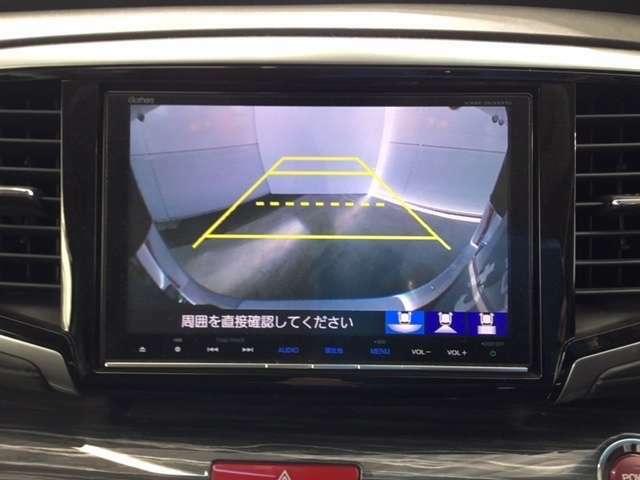 リアカメラを装備していますのでバック駐車も安心です。リバースギア連動で自動に切り替わり、車後方を表示します。