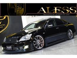 トヨタ クラウンアスリート 3.5 Gパッケージ 黒革 SR AIMGAINエアロ 車高調 WORK19
