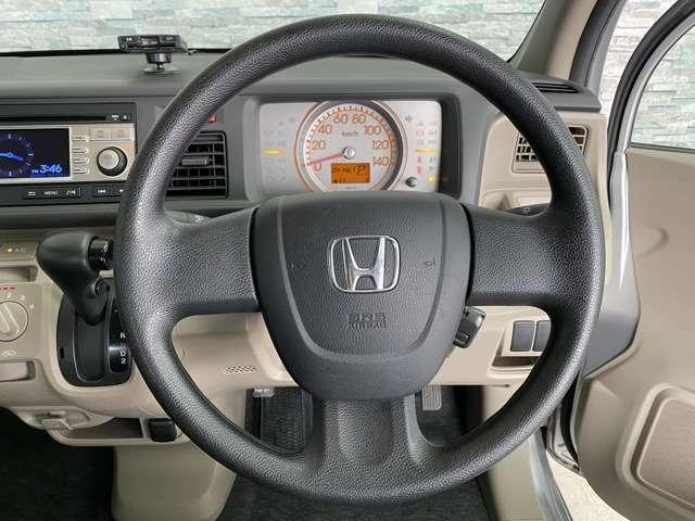 運転しやすいシンプルなハンドルです!