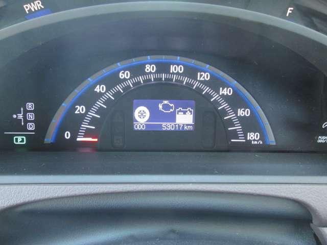 走行距離は、5.3万kmです。走行管理システムにて、走行距離の改ざんのないことが確認されております。
