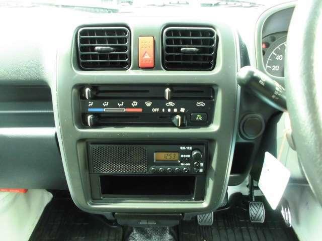 シンプルにラジオとエアコンディショナースイッチパネル!ナビその他オーディオ取付はご相談ください。