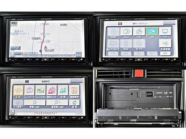 ワイドで明るい液晶画面、簡単な操作方法、多機能ナビゲーション。知らない街でも安心です。 パイオニア製「AVIC-HRZ88」