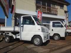 商用車も取り扱っております。軽トラック・軽ダンプ・バン・特殊車両などお仕事用のお車の販売・車検・修理も承ります。