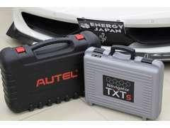 TEXAスーパーカーテスターMaxisys、Launch等のテスターにてエラーチェックを実施しBESTな状態の車輌を展示しております
