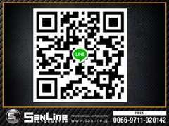 SANLINE直通のLINEのQRコードです。お気軽にお問合せください。