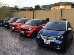 スマート京都限定車も勢ぞろいしております。