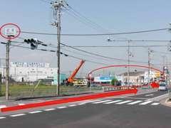 県道16号を西からお越しの方は、柱本交差点を越えてすぐ左折。