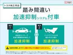 トヨタ純正 踏み間違い加速抑制システム装着車展示中です。対象車種に後付け可能です。詳しくはスタッフまでお問合せ下さい。