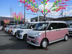 人気の軽自動車を中心に高年式低走行車から、お買得車まで豊富に取り揃えておりますよ(^o^)
