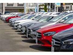 メルセデス・ベンツの他、BMWやボルボなど多彩なラインナップをご用意。