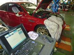 BMW専用テスター完備 M3は全車納車整備にてクラッチ点検