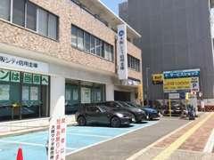 大阪シティ信用金庫様前も、当店の駐車場です。ショールーム前、またはこちらにご駐車下さい♪