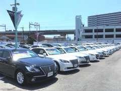 軽自動車・コンパクトカーからミニバン、ワゴン車まで様々なジャンルのおクルマを常時約50台前後展示中