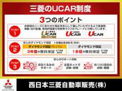 三菱UCAR保証は全国の三菱ディーラーで保証修理などご対応させて頂きますのでご安心下さい。