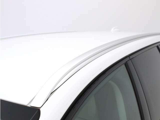 シルバーカラーのインテグレーテッド・ルーフレールのメタルの質感が、特別な印象を加えます。