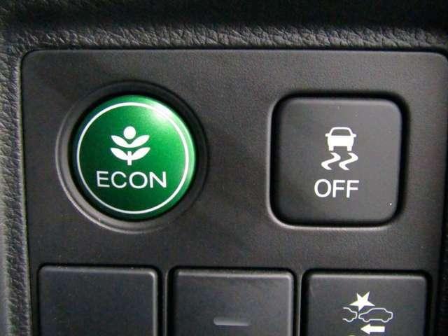 急ハンドル時などに起こる横すべりを制御するVSA(車両挙動安定化制御システム)を搭載!     【ECON】燃費を削減しつつ、エコに走る。現代的な装置ですね!