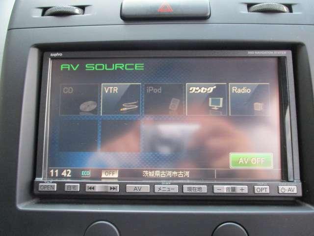 CD・SD再生や1セグTV視聴とドライブが盛り上がるナビです!