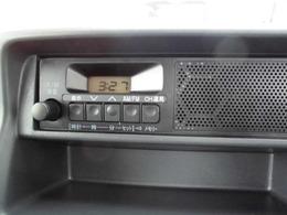 ラジオ装備しています!